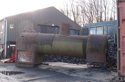 'boiler waiting to be transported