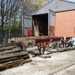 chassis outside the workshop
