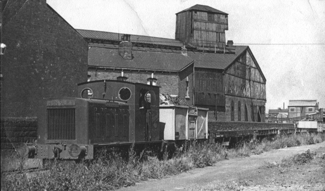 HE 1697 on a goods train