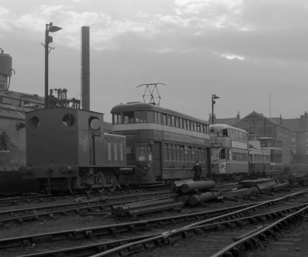 trams in Dartmouth Yard
