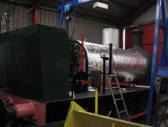 boiler lagging in place