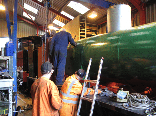 fitting the cab front