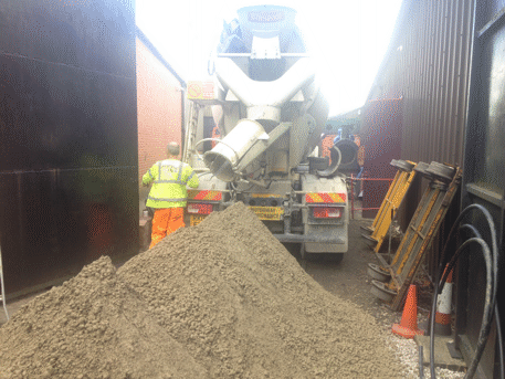 dry concrete delivery