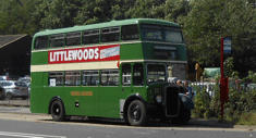 a bus at Moor Road on a previous runday