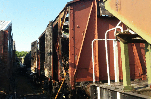 fire damage to wagons