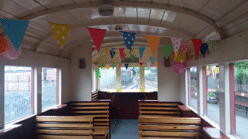 a decorated party coach