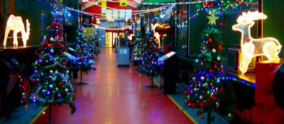 Engine shed at Xmas