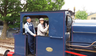 a fireman and driver on a locomotive